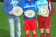 I capitani delle tre squadre.